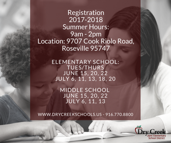 Summer Registration Hours